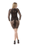 Long Sleeve Lace Dress - Rumor Apparel