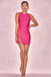 High Neck Lace Up Bandage Dress - Rumor Apparel