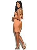 Cleavage Cutout Detail Bandage Dress - Rumor Apparel