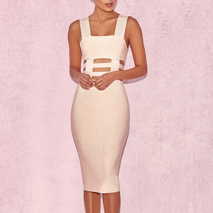 Sleeveless Cutout Bandage Dress
