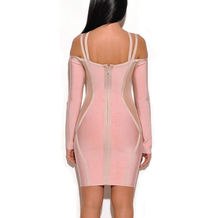 Off Shoulder Cutout Bandage Dress - Rumor Apparel