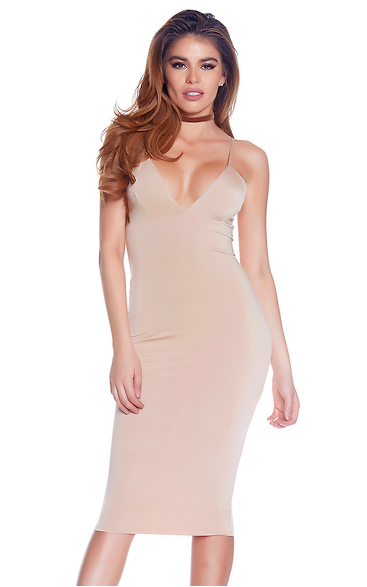 Sleeveless Bodycon Midi Dress - Rumor Apparel