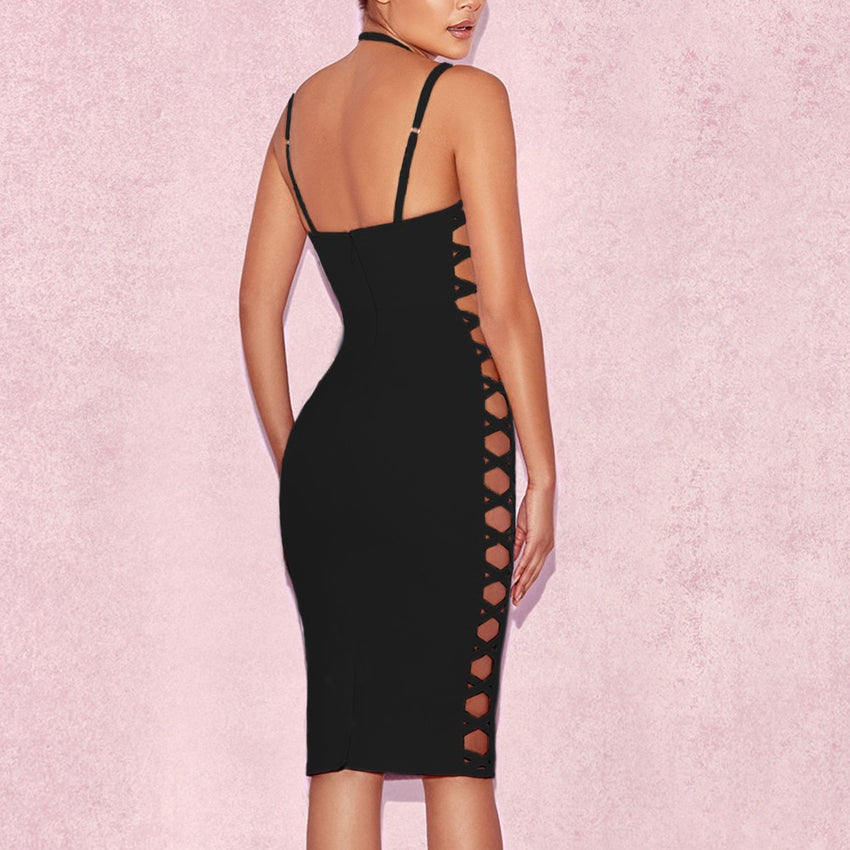 Strap Detail Bandage Dress