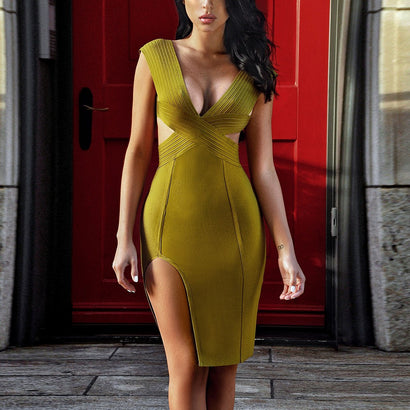 Cut Out Detail Bandage Dress - Rumor Apparel