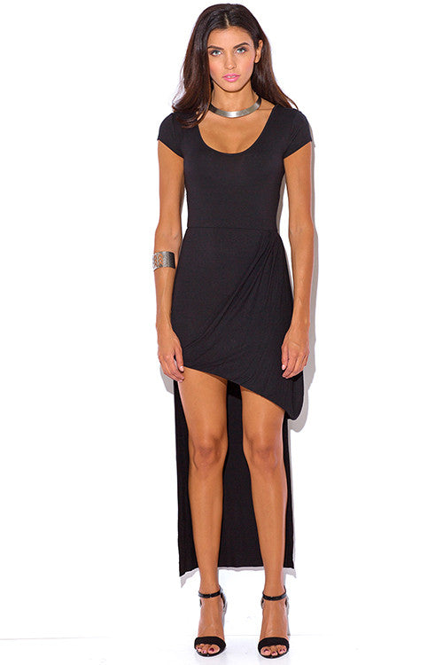 Black High Low Sexy Dress - Rumor Apparel