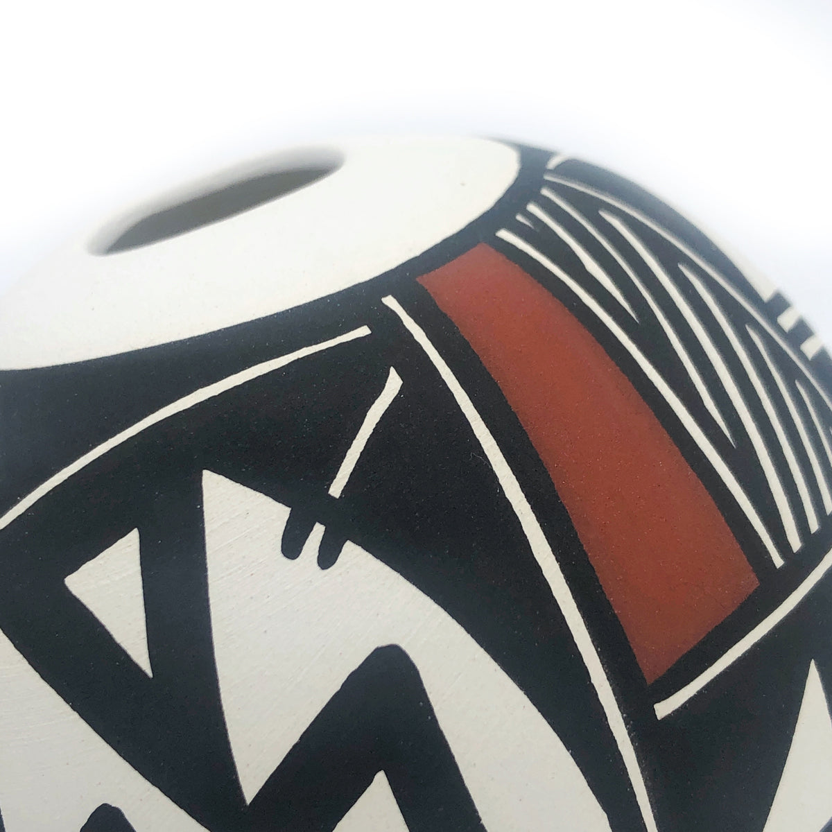 Small Round Handpainted Acoma Pot by Nicole Victorino