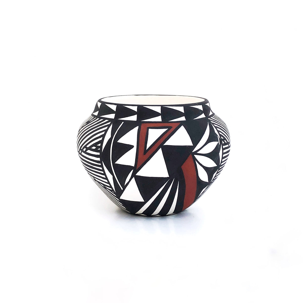 Small Handpainted Acoma Pot by Nicole Victorino