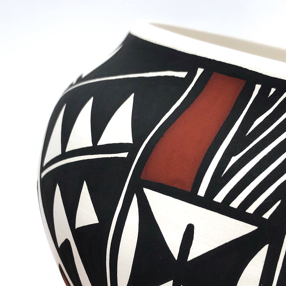 Small Handpainted Acoma Pot II by Nicole Victorino