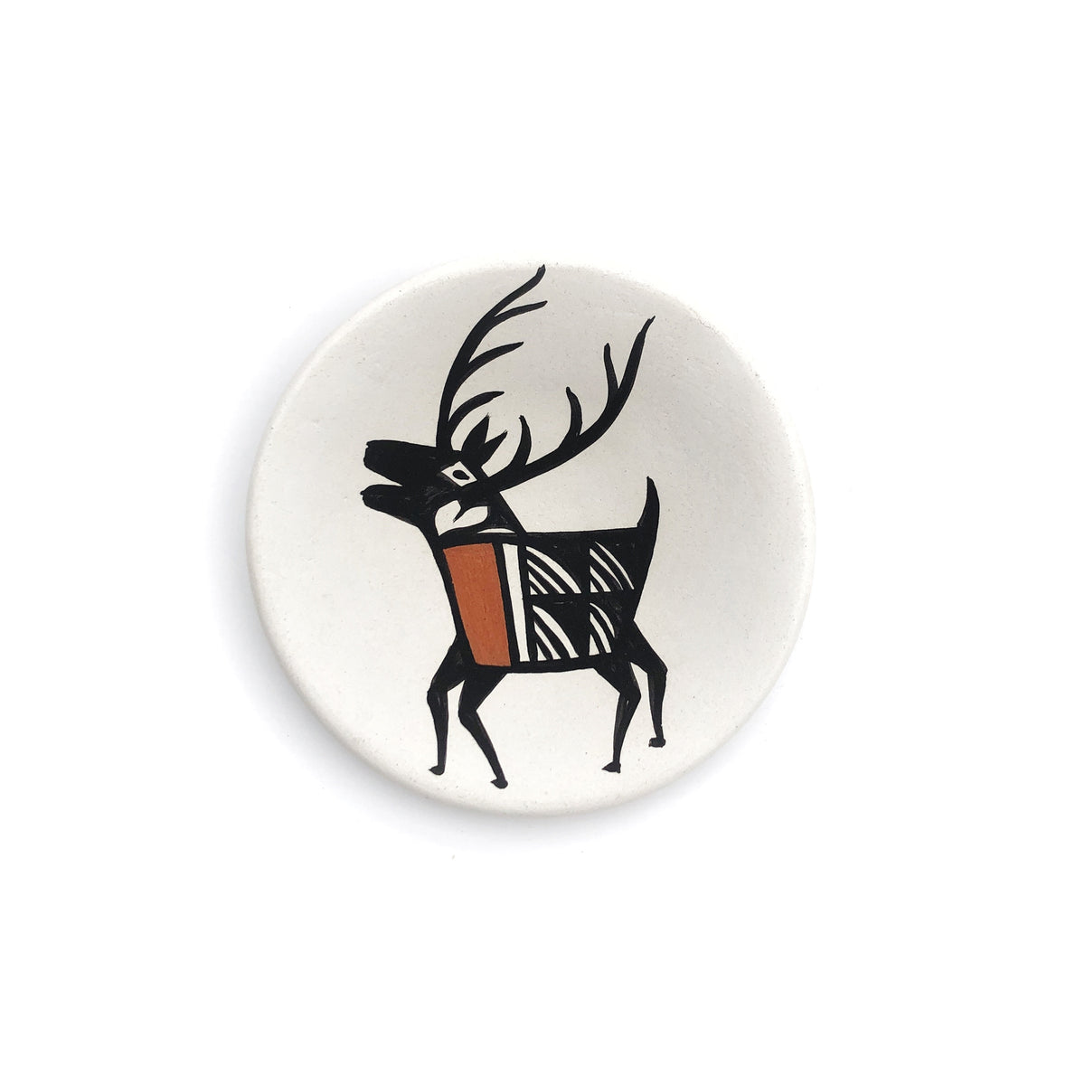 Small Hand Painted Elk Plate