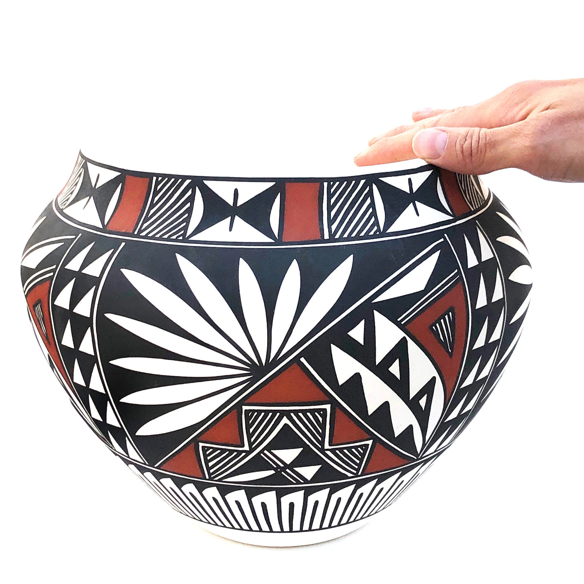 Large Handpainted Acoma Pot by Nicole Victorino