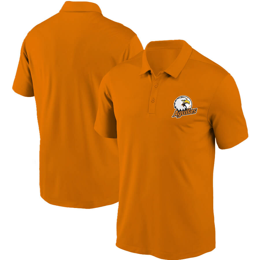 Aguilas del Zulia Polo Naranja Front y Back  Edit alt text