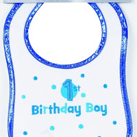 1st Birthday Baby Boy Bib