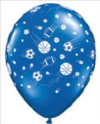 Sports Ball Print Balloons & Stick Pack