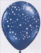 Star Print Balloons & Stick Pack