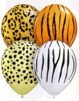 Jungle / Safari Printed Balloons Stick Pack