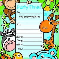 Jungle Party Invitations