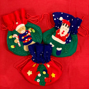 Christmas Felt Drawstring Lolly Bag