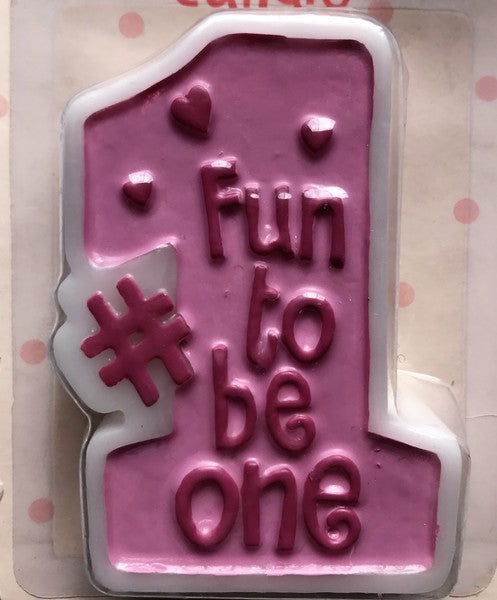 Fun to be 1 Candle - Pink