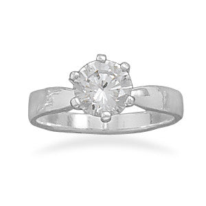 Ring in Silver with CZ Ravenstone Jewelry - Ravenstone Jewelry