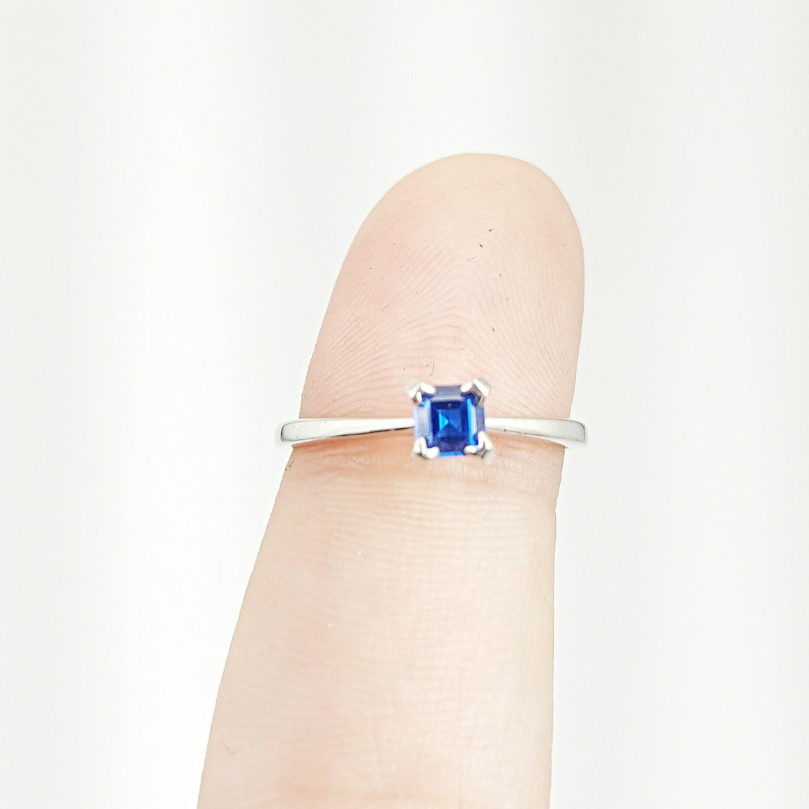 Lab Grown Sapphire Ring Ravenstone Jewelry - Ravenstone Jewelry