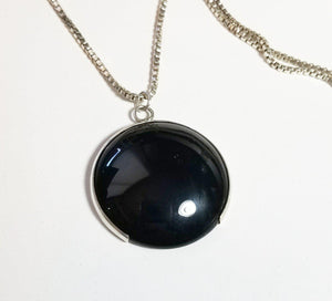 Necklace in black onyx and silver Ravenstone Jewelry - Ravenstone Jewelry