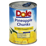 Dole Pineapple, Chunks in 100% Pineapple Juice, 20oz
