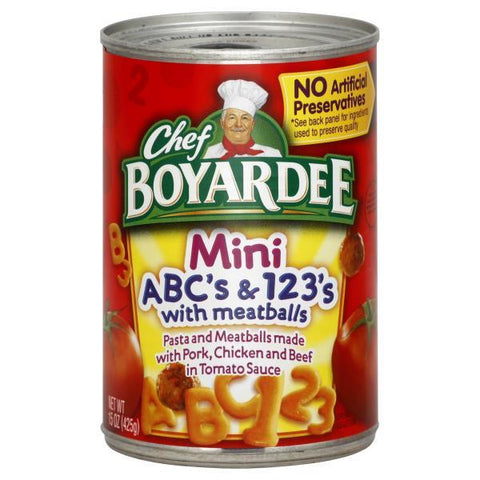 Chef Boyardee ABC's & 123's, Mini, with Meatballs