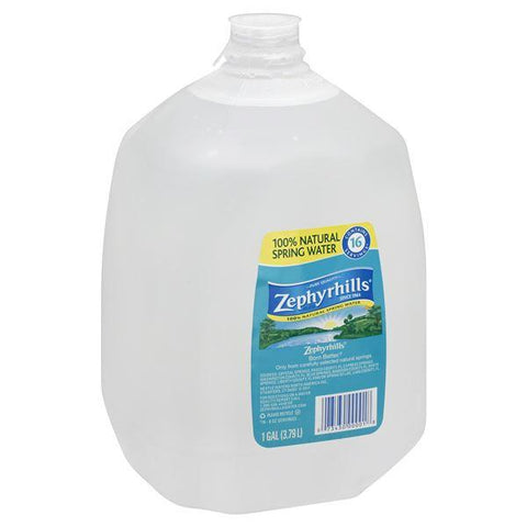 Zephyrhills Water, 100% Natural Spring, 1 gallon