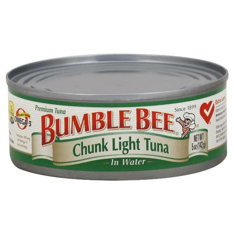 Bumble Bee Tuna, Premium, Chunk Light, in Water