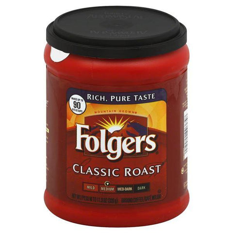 Folgers Coffee, Ground, Medium, Classic Roast, 11.3oz