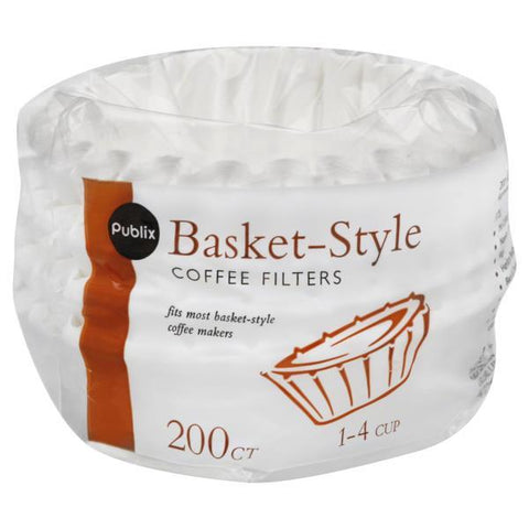 Publix Coffee Filters, Basket-Style, 1-4 Cup, 200t