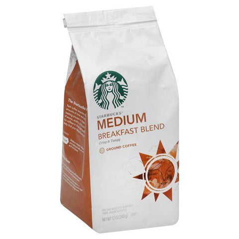 Starbucks Coffee, 100% Arabica, Ground, Medium, Breakfast Blend