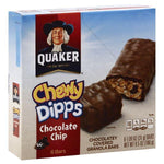 Quaker Chewy Dipps Granola Bars, Chocolatey Covered, Chocolate Chip