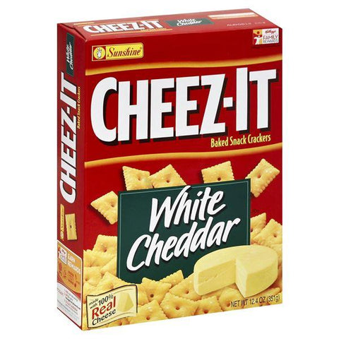 Cheez It Baked Snack Crackers, White Cheddar