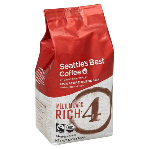 Seattles Best Coffee, Ground, Medium-Dark & Rich, Signature Blend No. 4, Level 4
