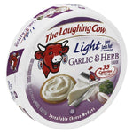 Laughing Cow Spreadable Cheese Wedges, Garlic & Herb Flavor, Light