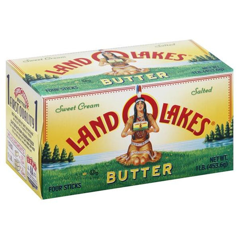 Land O Lakes Butter, Sweet Cream, Salted, 4 ct