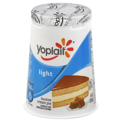 Yoplait Light Yogurt, Fat Free, Boston Cream Pie, small