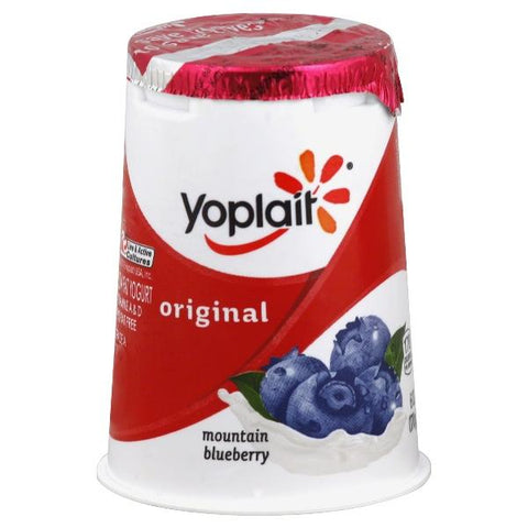 Yoplait Original Yogurt, Lowfat, Mountain Blueberry