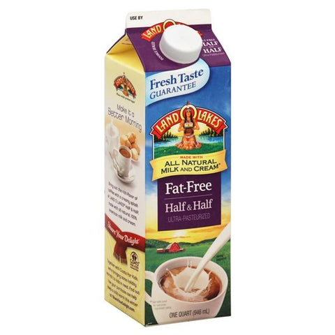 Land O Lakes Half & Half, Fat-Free, 1 qt