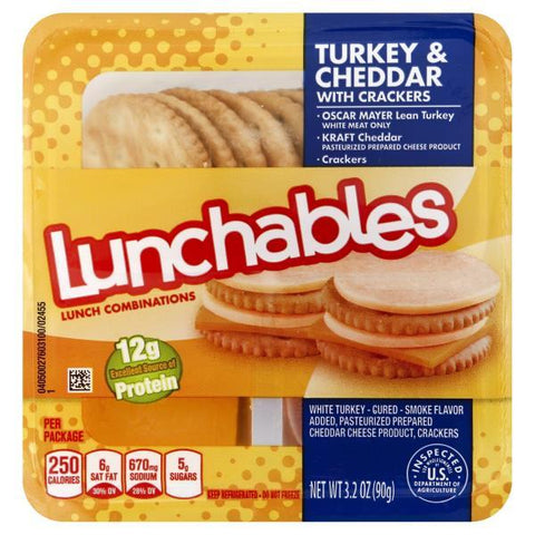 Lunchables Lunch Combinations, Turkey & Cheddar with Crackers