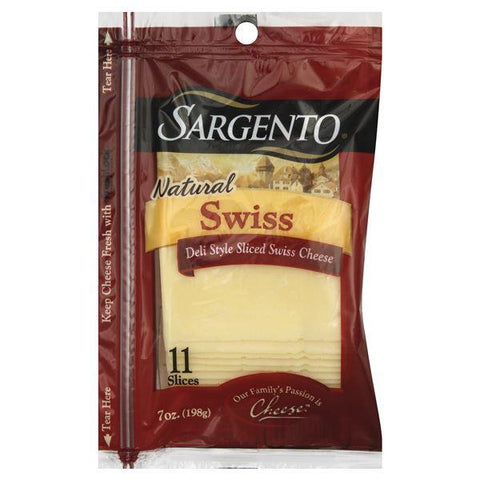 Sargento Cheese Slices, Deli Style, Swiss