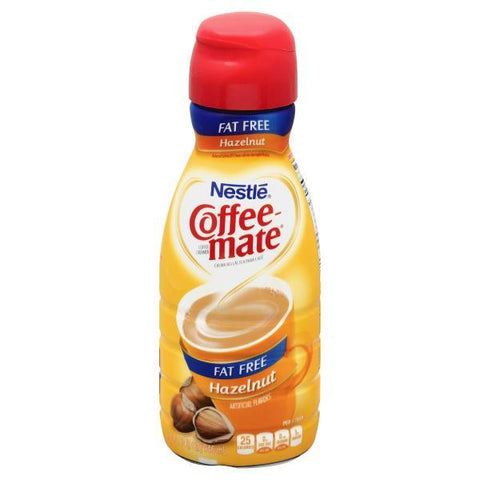 Coffee Mate Coffee Creamer, Hazelnut, Fat Free