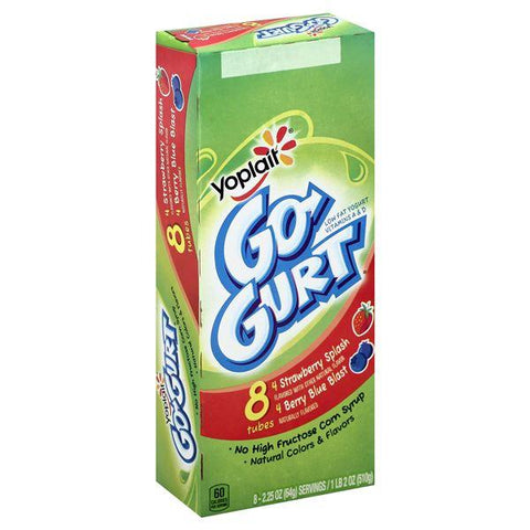 Yoplait Go-Gurt Yogurt, Low Fat, Assorted
