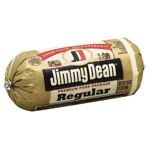 Jimmy Dean Sausage, Premium, Pork, Regular, Roll