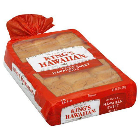 Kings Hawaiian Rolls, Hawaiian Sweet, Original, 12 ct