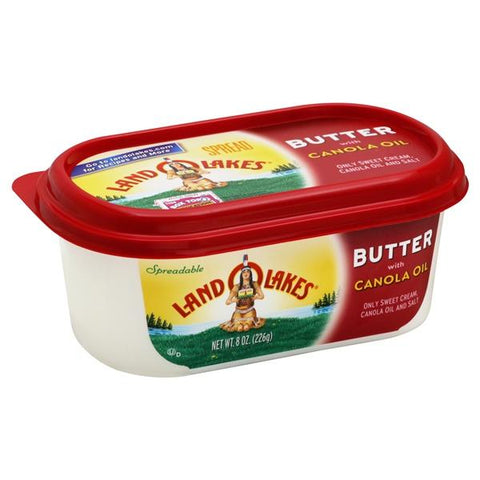 Land O Lakes Butter, with Canola Oil, Spreadable