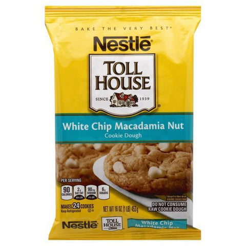 Toll House Cookie Dough, White Chip Macadamia Nut