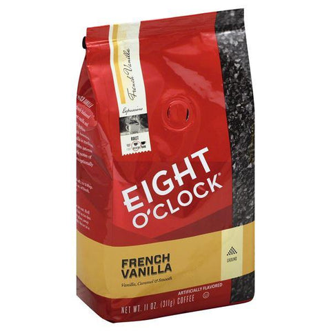 Eight O Clock Expressions Coffee, Ground, Medium Roast, French Vanilla