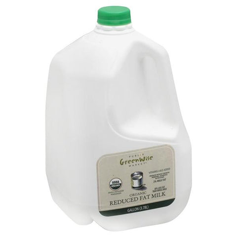 Publix Greenwise Milk, Reduced Fat, Organic, 2% Milkfat